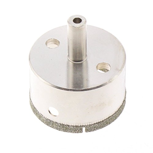 JINGLING 50mm 2' inch Diamond Coated Tool Drill Bit Hole Saw for Glass Tile Ceramic Marble Color Silver