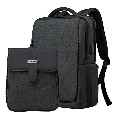リュック 15.6インチ 2in1 防水 大容量 タブレット PCバッグ 盗難防止 USB充電ポート付き Beschoi