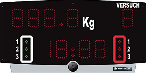 Boje Sport Anzeigetafel H-TOP/B (Akkubetrieb) - inkl. Jury-Bedienpult von Stramatel