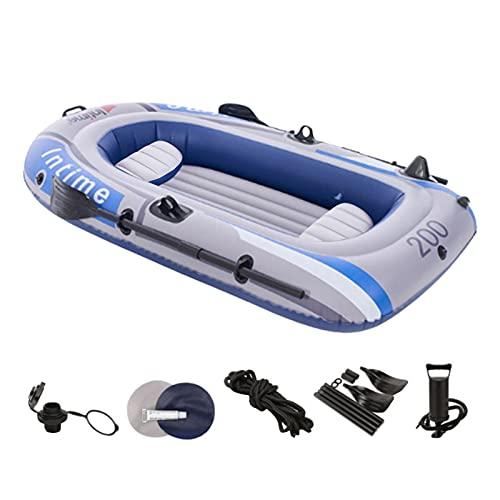 persiverney-AT Barca Hinchable, Barco Inflable, Kayak Hinchable para 2/3 Personas, Balsa Inflable para Adultos Bote Inflable con Remos, Cuerda, Paleta, Bomba De Aire Y Patches De Reparación Benefit