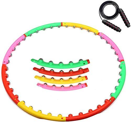 SJZLMB Hula Hoop-Aro de Fitness para Adultos Hula Aptitud del aro del aro de Hula Hoopomania Adultos con 8 Nudos Desmontable Diseño Hula Hoop es Adecuado for la pérdida de Peso Movimiento Adultos