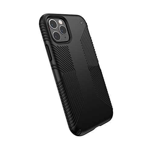 Speck iPhone 11 Pro Case - Presidio Grip - Protective Grip Ultra Thin Slim Hardshell Anti Scratch Cover - Black