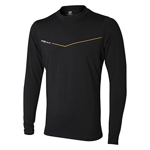 Wilson Langarmshirt First Layer für Golfer, FG Tour First Layer, Polyester/Elasthan, schwarz, Gr. L, WGA700340