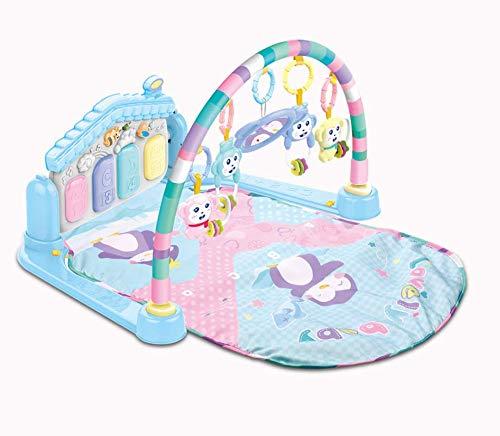 Surreal SM 3 en 1 tapete de juego para bebé y gimnasio de actividades con piano, música y luces, color azul