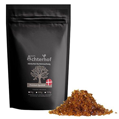 250 g Dänisches Rauchsalz Buchenholzrauchsalz Meersalz grob kaltgeräuchert Premiumqualität vom-Achterhof