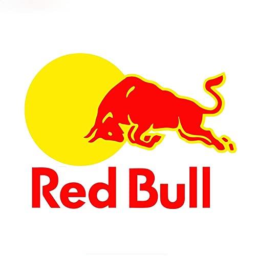 VCHSH Etiqueta engomada de la ventana del camión Portátil Portátil Casco de la pared Camper Impermeable SunScreen Moda Pegatina Coche Red Bull Bull Vinyl Decal Etiquetas engomadas del estilo del coche