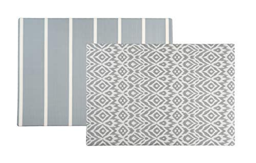 Baby Play mat | one-Piece Reversible Foam Floor mat | Large | eco-Friendly | Extra Soft | Non-Toxic | 6.5ft x 4.5ft (Grey)