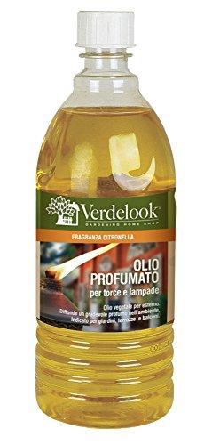 VERDELOOK Olio lampante a Base vegetale profumato per Giardino - Dimensioni 25xø8 cm