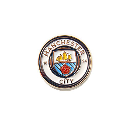 Manchester City FC Offizielle Fußball Crest Pin Abzeichen (Einheitsgröße) (Weiß/Silber)