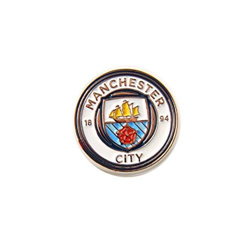 Manchester City FC - Spilla ufficiale con stemma (Taglia unica) (Bianco/Argento)