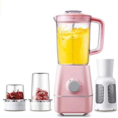 kaige Licuadora Smoothie, Multi-función de Fundido 22.000 RPM, 3 Tazas, Conjunto de 8, licuadora for licuadora Smoothie, exprimidor, Hielo picado, Especias, 250 W, Rosa, Blanco WKY (Color : Pink)