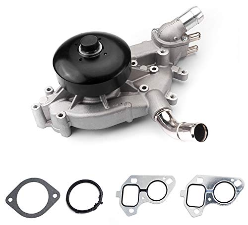Tecoom 12604746 Professional Water Pump with Gaskets and Thermostat Inlet Housing Assembly for Chevrolet Cadillac GMC 4.8L 5.3L 6.0L Engine Replace # 12456113 19256261