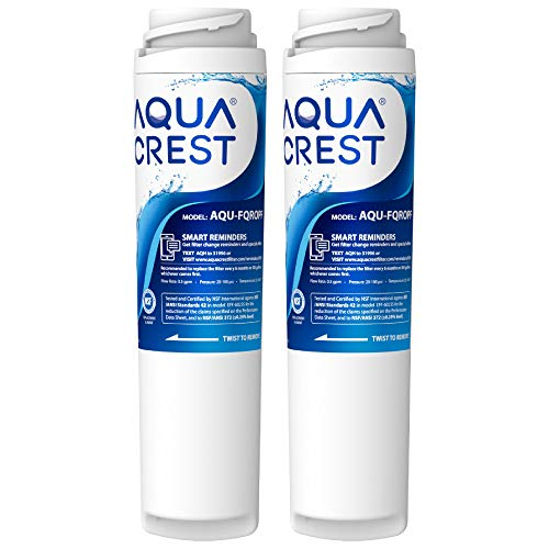 AQUACREST FQROPF Undersink Inline Water Filter, Reduces Lead, Chlorine, Taste & Odor, Cyst, Benzene and More, Replacement for GE FQROPF Reverse Osmosis
