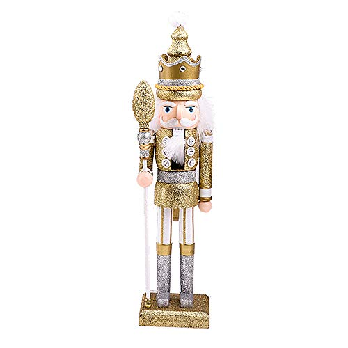 Langde 46 cm Nussknacker Holzfigur Soldat, Nußknacker Wood Dekorativ, Traditionell Puppe Figur Klassisch aus Holz zum Weihnachten, Nutcracker Christmas Decoration