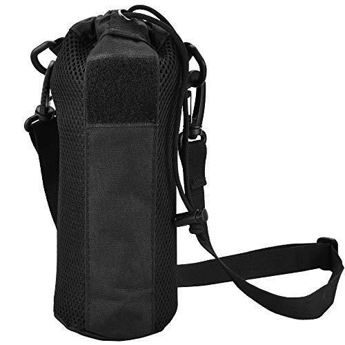 HTIANC Taktisch Flaschenhalter Nylon Wasserkocher Tasche Molle System Taktisch Wasserflaschenhalter Wasserdicht Militär Trinkflasche Beutel für Reisen, Wandern, Camping, Bergsteigen, Radfahren