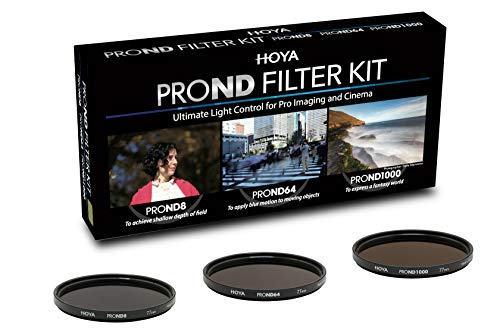 Hoya PRO ND KIT (8/64/1000) 72mm, Praktisches Set mit 3 verschiedenen Hoya PRP ND Filter zur Lichtreduzierung, Graufilter, ND Filter, Langzeitbeleuchtung, Hochwertig