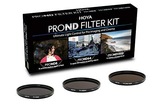 Hoya PRO ND KIT (8/64/1000) 82mm, Praktisches Set mit 3 verschiedenen Hoya PRP ND Filter zur Lichtreduzierung, Graufilter, ND Filter, Langzeitbeleuchtung, Hochwertig, YYK1182