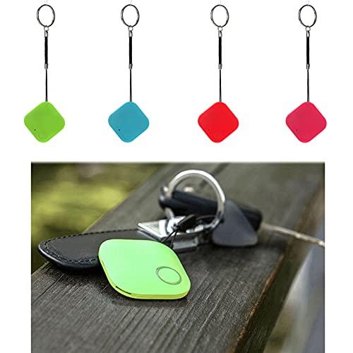 Car Motor GPS Tracker Kids Pets Wallet Keys Alarm Locator Realtime Finder Device with Lanyard (Blue)
