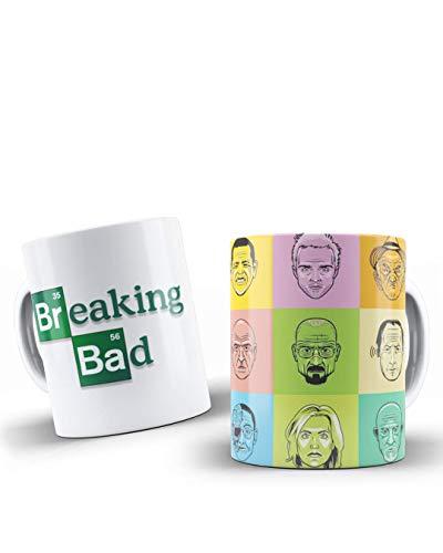 adaysusdetalles Breaking Bad,Taza Ceramica, Unidad Desayuno Regalo Cumpleanos Sorpresa