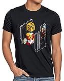 style3 Plumber Bros Camiseta para Hombre T-Shirt NES SNES Classic Mini 8-bit Gamer Retro Classic, Talla:3XL, Color:Negro
