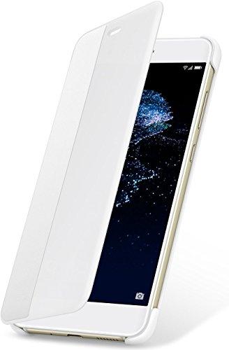 Huawei P10 Lite Custodia Flip, Accessorio Originale, Bianco