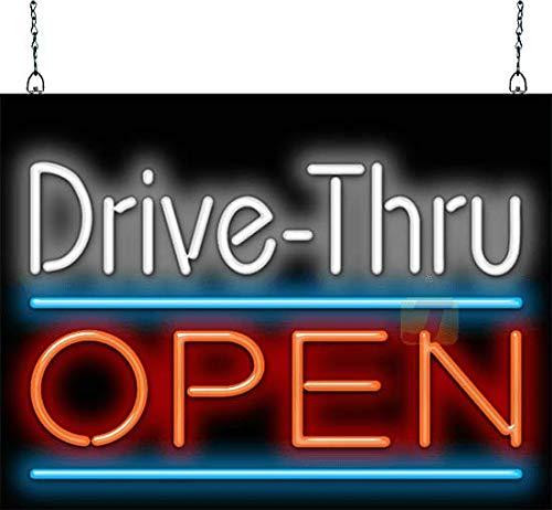 Drive-Thru latest Max 59% OFF Open Small Sign Neon