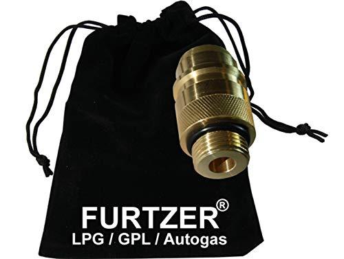 Furtzer LPG GPL Autogas Tankadapter M22 EURONOZZLE kurz Adapter mit Stoffbeutel by