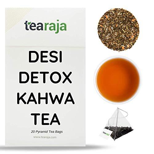 TeaRaja Desi Detox Kahwa Green Tea (20 Pyramid Tea Bags)