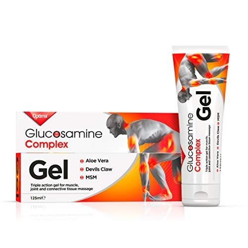 Optima Gel à Glucosamine pour Articulations Contient de Griffe du Diable/Aloe Vera/Méthylsulfonylméthane