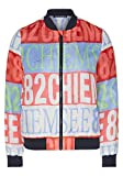 Chiemsee Damen Jacke, Red/Lt Blue AOP, S