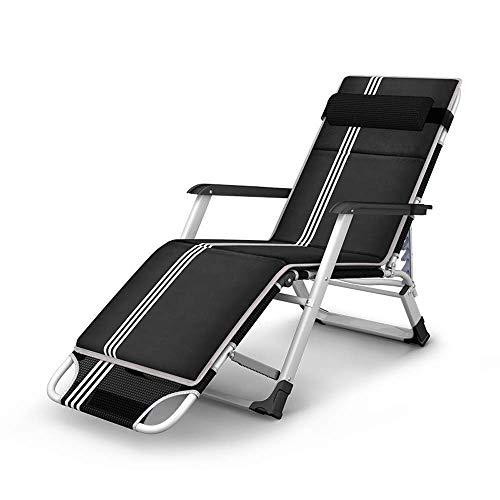 Decoración de estar Sillas plegables Chaise Lounge Cama plegable ensanchada Sillón reclinable plegable Oficina individual Silla para almuerzo Silla de salón portátil para exteriores Sillón reclinab