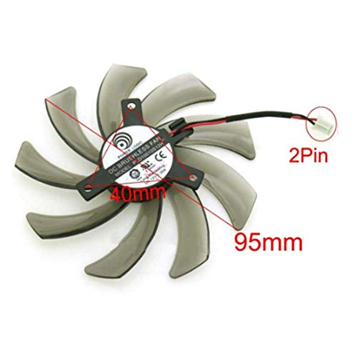 QHXCM PLD10010S12H 12V 0.30A 95mm 2Pin VGA Fan For Gigabyte GeForce GTX 660 600 7750 TI Graphics Card Cooling Fan Cooler