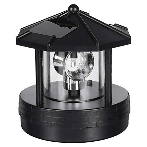 NIVNI LED Licht, LED drehbarer Leuchtturm Licht Outdoor Solarleuchte Dekolampe für Garten Hof Schwarz