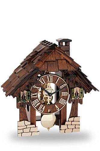 Hermle koeksklok origineel Zwarte Woud klok koekoekklok gemaakt van echt hout met mechanische 8-dagen driver met belslag. NIEUW Zwarte Woud klok 24 cm - 23030-030711