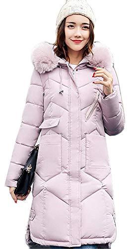Dames donsjas winter lang met Parka Zipper Chic voorzakken lange mouwen rolkraagshirt effen hoodie warme hoogwaardige trenchcoat