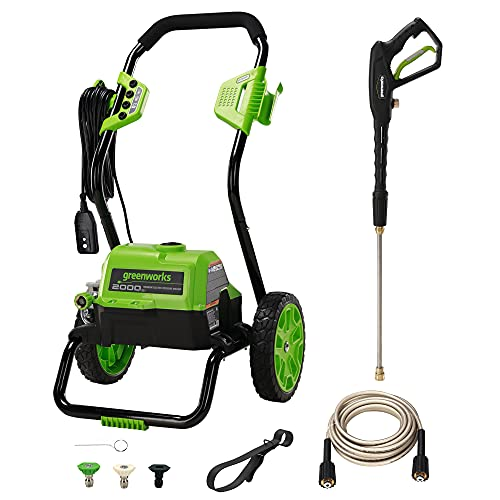 Greenworks 2000 Max PSI @ 1.1 GPM (13 Amp) Electric Pressure Washer GPW2000-1RB