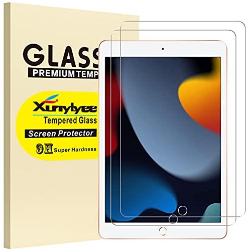 XunyLyee [2 pezzi] Vetro Temperato Compatibile Con iPad 9a Generazione, Pellicola Protettiva per iPad 10,2 Pollici 2021