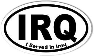 IRQ I Served in Iraq Oval Bumper Sticker