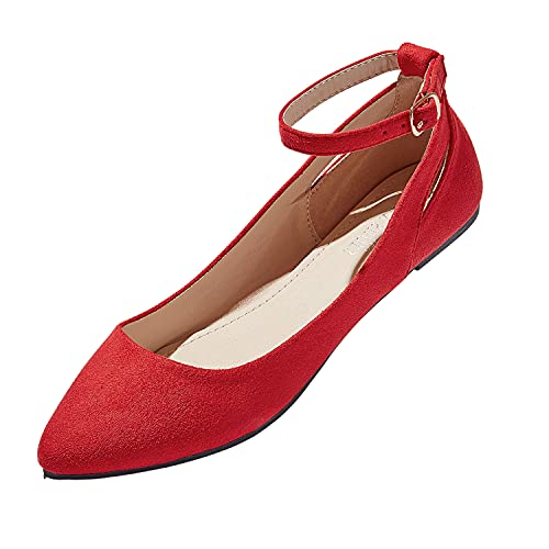 Top 10 best selling list for flat red shoes with strap