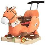 LITING Rocking Horse Children's Silling Baby Cradle Trolley Rueda Universal