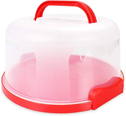 Cake Carrier Holder Cover Large Round Container with Collapsible Handles