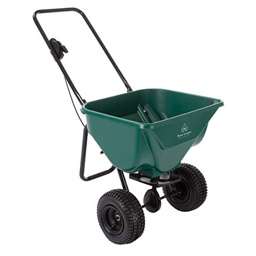 Pure Garden 50-LG1081 Lawn and Garden Spreader-66 Pound Capacity Walk Behind Rotary Broadcast Dispenser for Fertilizer Grass Seed, Sand and Salt