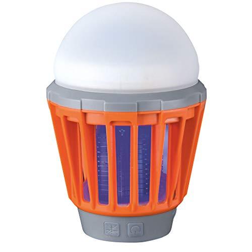 happy globe Lampada Anti-zanzare Insetticida Elettrico con Batteria con Carica USB | Trappola zanzare e Insetti con Ventose per muri e vetri