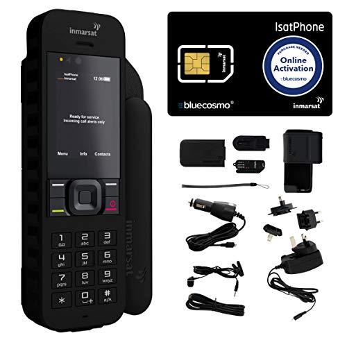 BlueCosmo Kit de téléphone Satellite Inmarsat isatphone 2.1 1: Carte SIM Inclus (Non Airtime)