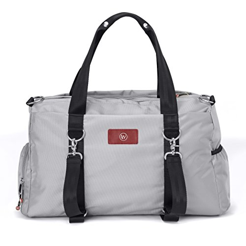 Best Gym Duffel Bag for Men or Women – Bag with Shoe, Laptop & Wet Compartment - Perfect Sports or Workout Shoulder Bag with Multiple Compartments - Live Well 360 - THE LUXX (Slate Gray)
