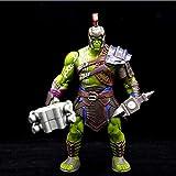 FJKYF Anime Spielzeugfilm Anime Thor 3 Ragnarok PVC Actionfigur Kriegshammer Streitaxt Gladiator Hulk Bewegliches Modell Toy Boy Geschenk Sammlerstücke 20Cm