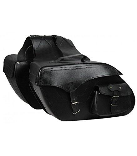 Alforjas Laterales de Cuero para Moto 22 x 2 litros
