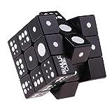 IPOTCH Puzzle Cube 3x3 Match Braille Speed Magic Cubes Brain Twist Puzzle Niños Juguete - Negro, 5.8x5.8x5.8cm