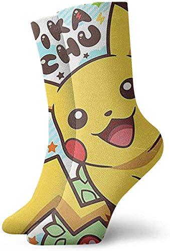 iuitt7rtree Jugend-Sport-Socken, niedliche Socken der Poke-mon Pika-chu Mannschafts-Socken im Freien für Gilrs und Jungen socks7044