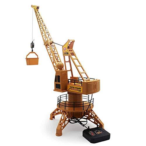 W-star 4 Kanäle RC Ferngesteuerter Kran,Modell Baustellen-Fahrzeug Bagger Modellbau,Multifunktionsgerät Rad von 360 Grad und Fernbedienung filoguida Lernspielzeug für Kinder